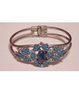 Vintage Turquoise Clamper Bracelet Unsigned - $19.95