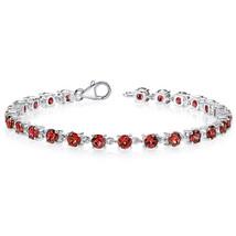 Women's Classic Sterling Silver Genuine Garnet Tennis Bracelet - $199.99