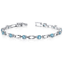 Women's Sterling Silver Modern London Blue Topaz Tennis Bracelet - $159.99