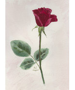 """October Rose,"" an A. Rose Designs (tm) note card - $5.95+"