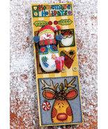 "2 1/4"" SNOWMAN PIN BROACH  BOOKMARK GIFT SET - $3.00"