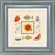 CLEARANCE Summer Boxer Kit B04 cross stitch kit Lizzie Kate - $11.00
