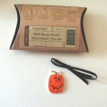 Longaberger Halloween Pumpkin Jack O Lantern Tie On New In Box Authentic - $7.87