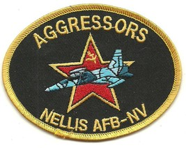 USAF Aggressors Patch Nellis Air Force Base NV  - $9.97