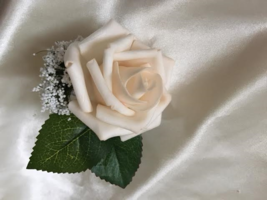 Light Champagne Rose Boutonniere - $4.25