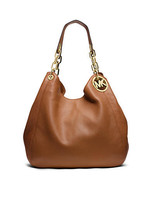 Michael Kors Luggage Leather Top Zip Closure Fulton Large Shoulder Tote - $549.99