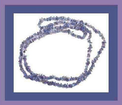125.00 CT NATURAL TANZANITE GEMSTONE 36 INCH STRAND NECKLACE - $79.99