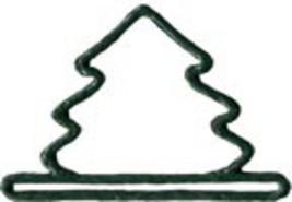 """Green Mini Tree christmas metal bellpull 3.25"""" opening cross stitch Mill Hill - $11.70"""
