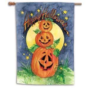 Midnight jack o lanterns art banner 8178