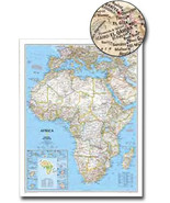 """Africa National Geographic - 46"""" x 36"""" Wall Map (Classic) - $47.99"""