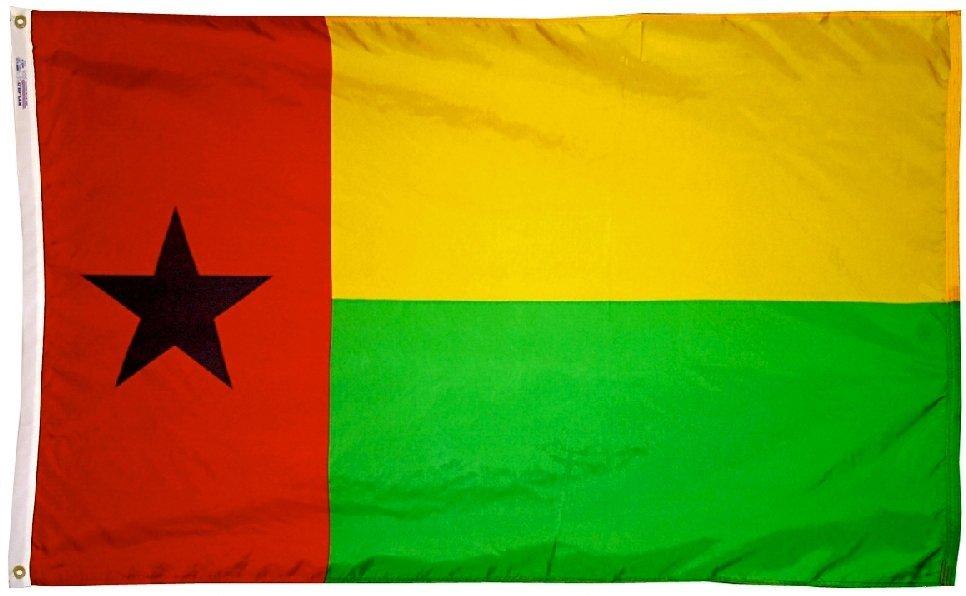 Guinea bissau flag 3x5nylon 0