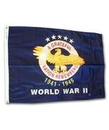World War II - 3'X4' Commemorative Nylon Flag - $52.80