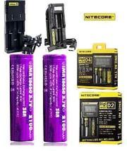 2xEFEST 2100mAh 38A 18650 High Drain Batteries + Nitecore Smart Charger  - $27.60+