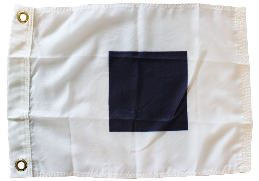 Letter S - Nautical Code Signal Nylon Flag