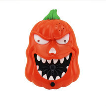 Halloween LED Flashing Sound Pumpkin Doorbell Talking Jack O Lantern Dec... - $11.29