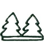 "Double Green Tree christmas metal bellpull 4.5""... - $11.70"