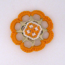 Orange Can Tab Christmas Flower Double Sided Ornament - $15.00