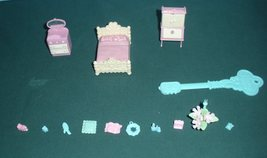 Vintage Fisher Price Precious Places #5173 Bedroom 99% Comp./EXC++-NR MI... - $24.99