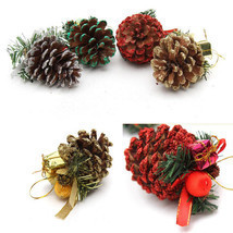 4X Christmas Berry & Pine Cone picks Xmas Tree hanging decoration Ornaments - $7.57