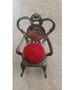 Antique Minniature Metal Rocking Chair Pin Cushion - $23.00