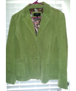Colebrook Lime Green Suede Jacket Blazer Coat Size XL Brand New With Tags - $49.99