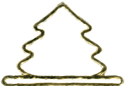 "Primary image for Brushed Gold Mini Tree metal bellpull 3.25"" opening cross stitch Mill Hill"