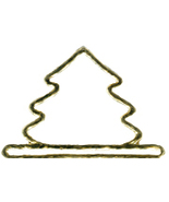 "Brushed Gold Mini Tree metal bellpull 3.25"" ope... - $9.00"