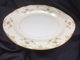 "13"" Homer Laughlin ARISTOCRAT Oval Platter Eggshell Nautilus 1948 - $27.72"