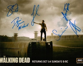 Walking Dead Cast 6 Signatures Authentic Autographs 8x10 - $89.95