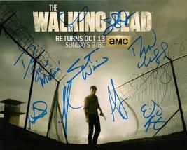 Walking Dead Cast 9 Signatures Authentic Autographs 8x10 - $99.95