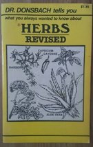 Dr. Donsbach Tells You What you Always Wanted to Know About Herbs - Revi... - $5.89