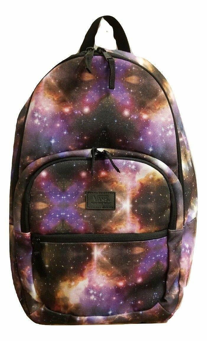 347176f9380 Vans Schooler Galaxy Backpack School Bag VNOA3WK7EE8 SPACE STARS - $31.75