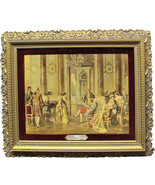 """Antique Victorian French """"Artists at Court"""" Monotype Print by Wilson Car... - $503.99"""