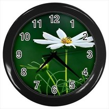 White Camomile Flower Wall Clocks - $17.41