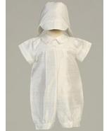 Baby Boys Silk Christening Baptism Romper - $37.00