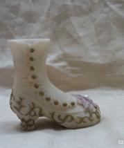 Vintage Hand Painted Porcelain Victorian Boot // Decorative Shoe - $10.00