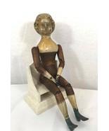 Antik Selten Holz Puppe 1873 Springfield mit Metall Hände Beine 18. Jahr... - $996.79