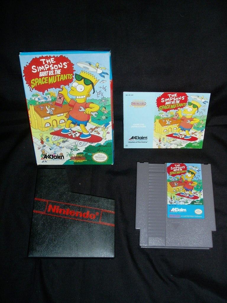 1990 The Simpson's Nintendo NES Game! New In Original Box!