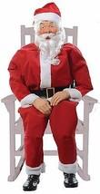 Animated Life-Size ~ ROCKING CHAIR SANTA ~ Talking Christmas Decoration ... - $186.64