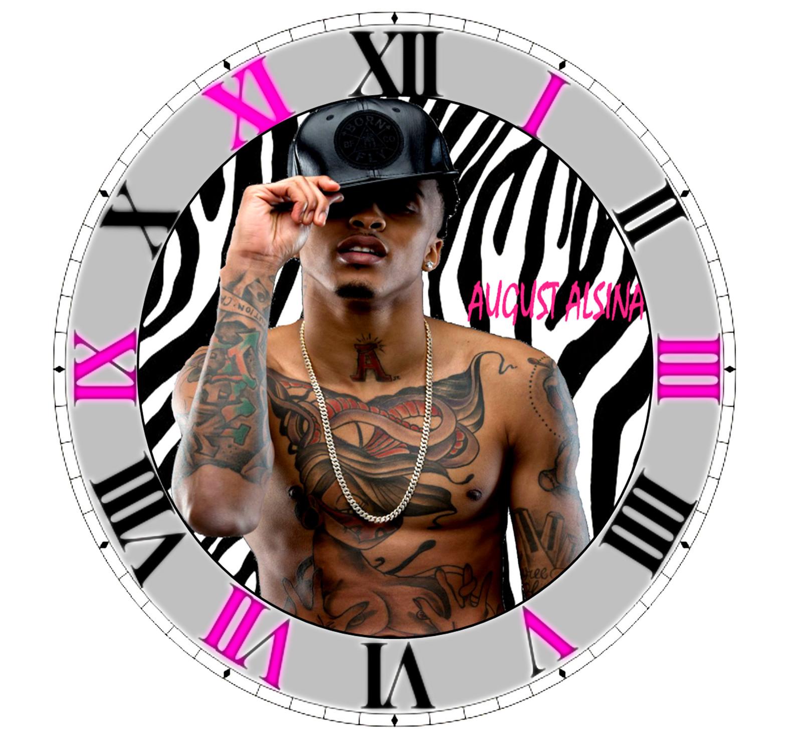 August Alsina R&B Artist Singer Wall Clock