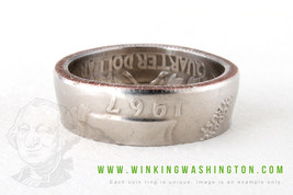 COIN RING - 1982 - HANDMADE IN USA FROM GENUINE... - $10.50