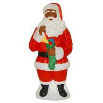 African American Santa Claus Light Up Yard Christmas Decoration Plastic - £112.94 GBP