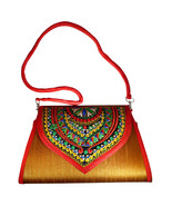 Zonnie Chanda Indian Embroidered Large Purse Gold - $33.93