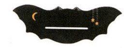"Wooden Black Bat fall halloween bellpull 4.75"" opening cross stitch Mill Hill - $13.50"
