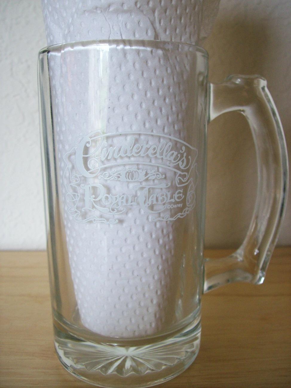 Disney Cinderella's Royal Table Glass Stein