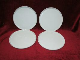 """Crate & Barrel Mercer set of 4   dinner plates 11""""  - $29.65"""