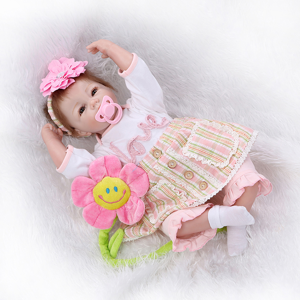 "20"" Lifelike Reborn Baby Silicone Girl Doll Real Look Kids"