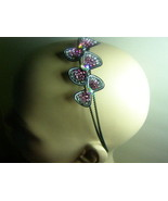 Triple Bows in Pink Crystals on a Black Dual Wi... - $12.99