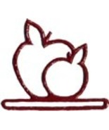 "Red Apples metal bellpull 4.5"" opening cross st... - $11.70"