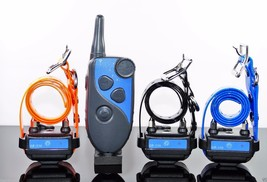 GROOVYPETS 600 M Remote Trainer Waterproof 3- Dog Training Shock Collar ... - $97.95